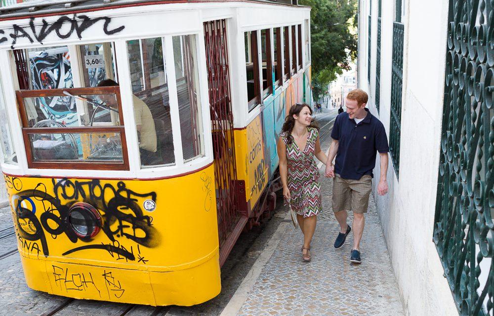 A Priceless Wedding Present, Honeymoon Photos in Lisbon