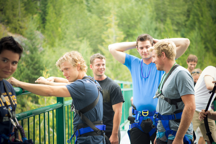 Whistler Bachelor Party: Taking the Plunge