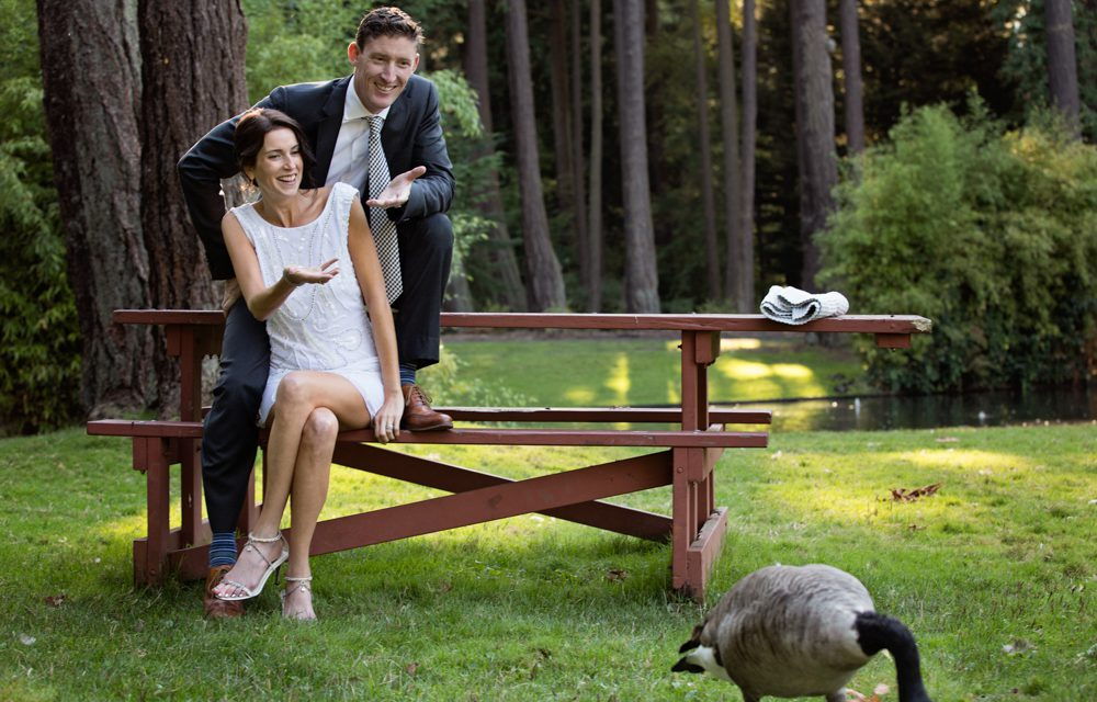 Sweet Newlywed Moments Captured in Beacon Hill Park
