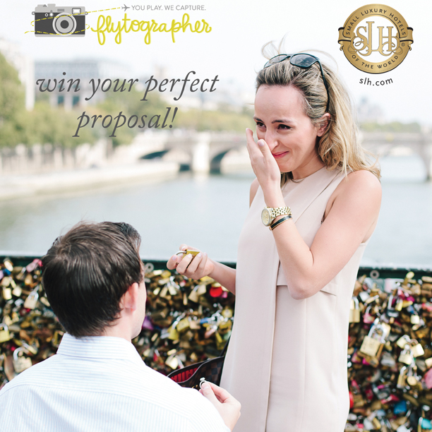 "Flytographer Partners with Small Luxury Hotels of the World in ""Win the Perfect Proposal"" Contest"