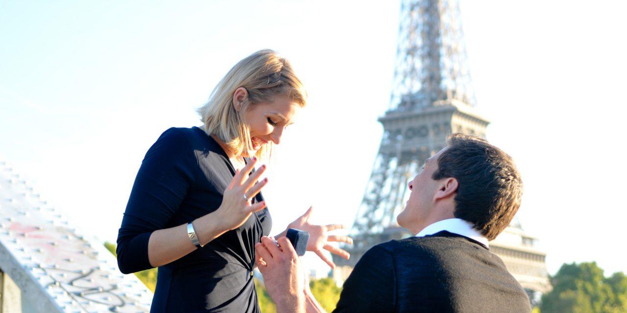 Dream Surprise Proposal Near Eiffel Tower