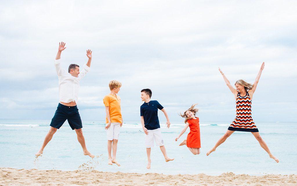 Jumping with Joy in Hawaii