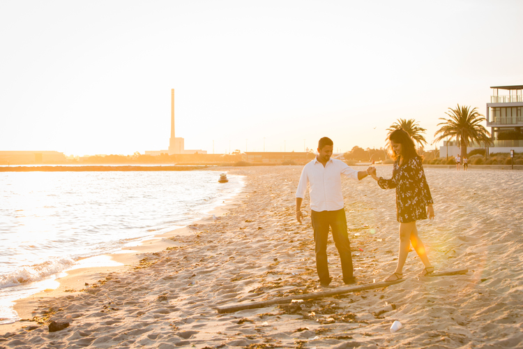 Beachy Engagement Celebration in Melbourne