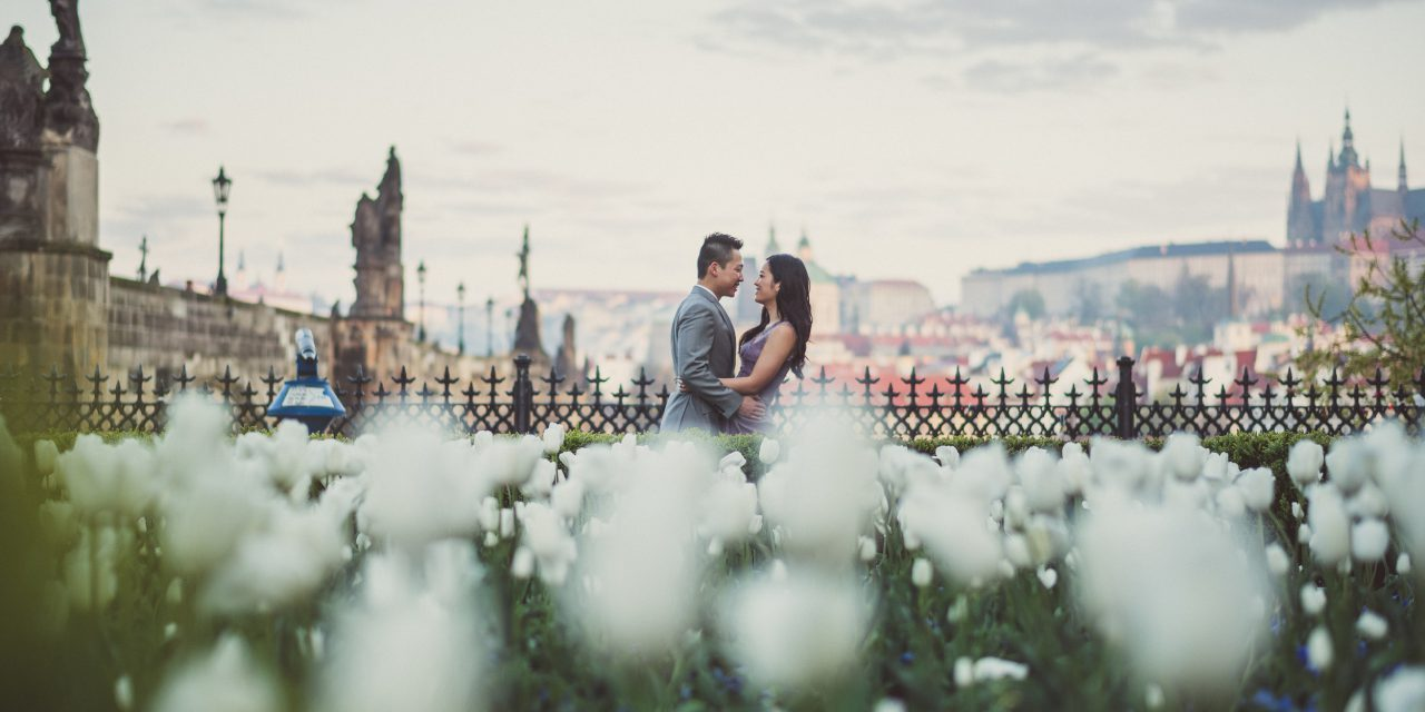 A Blissful Engagement on the Charles Bridge