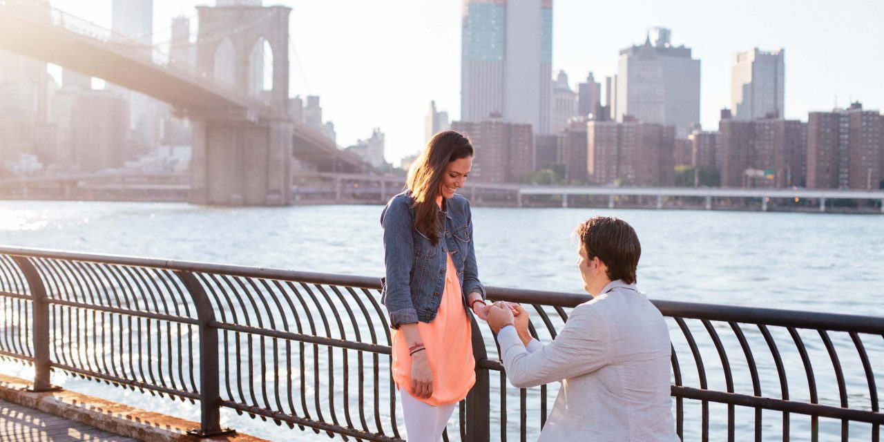 A Loving Reunion and Proposal in NYC