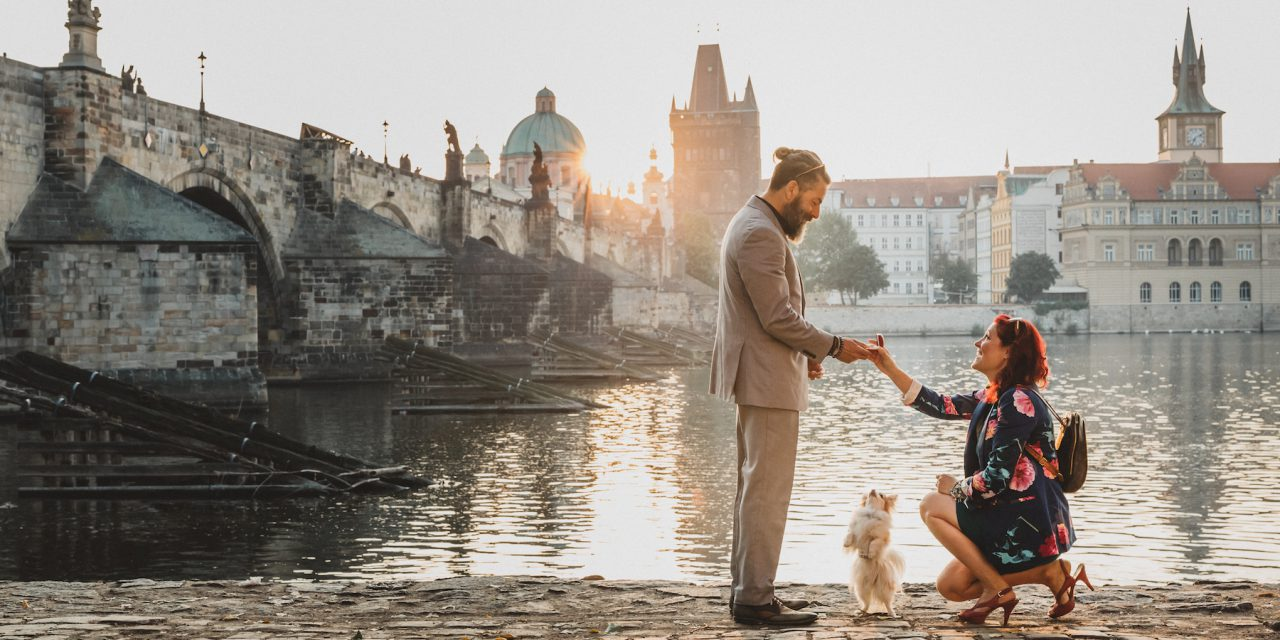 An Epic Proposal in Prague Two Years in the Making – He Said Yes!