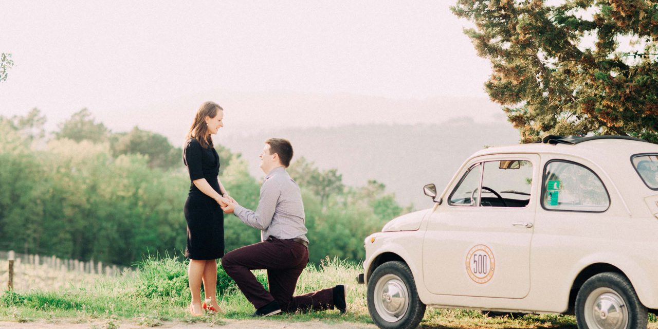 A Surprise Proposal in Florence to Celebrate 500 Days of Love