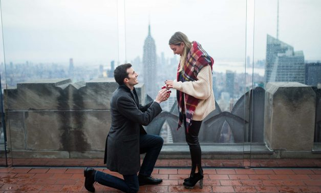 A Heartfelt Proposal at the Top of the Rock